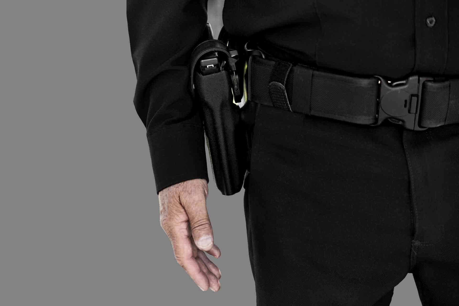Armed Security Guard and his holster