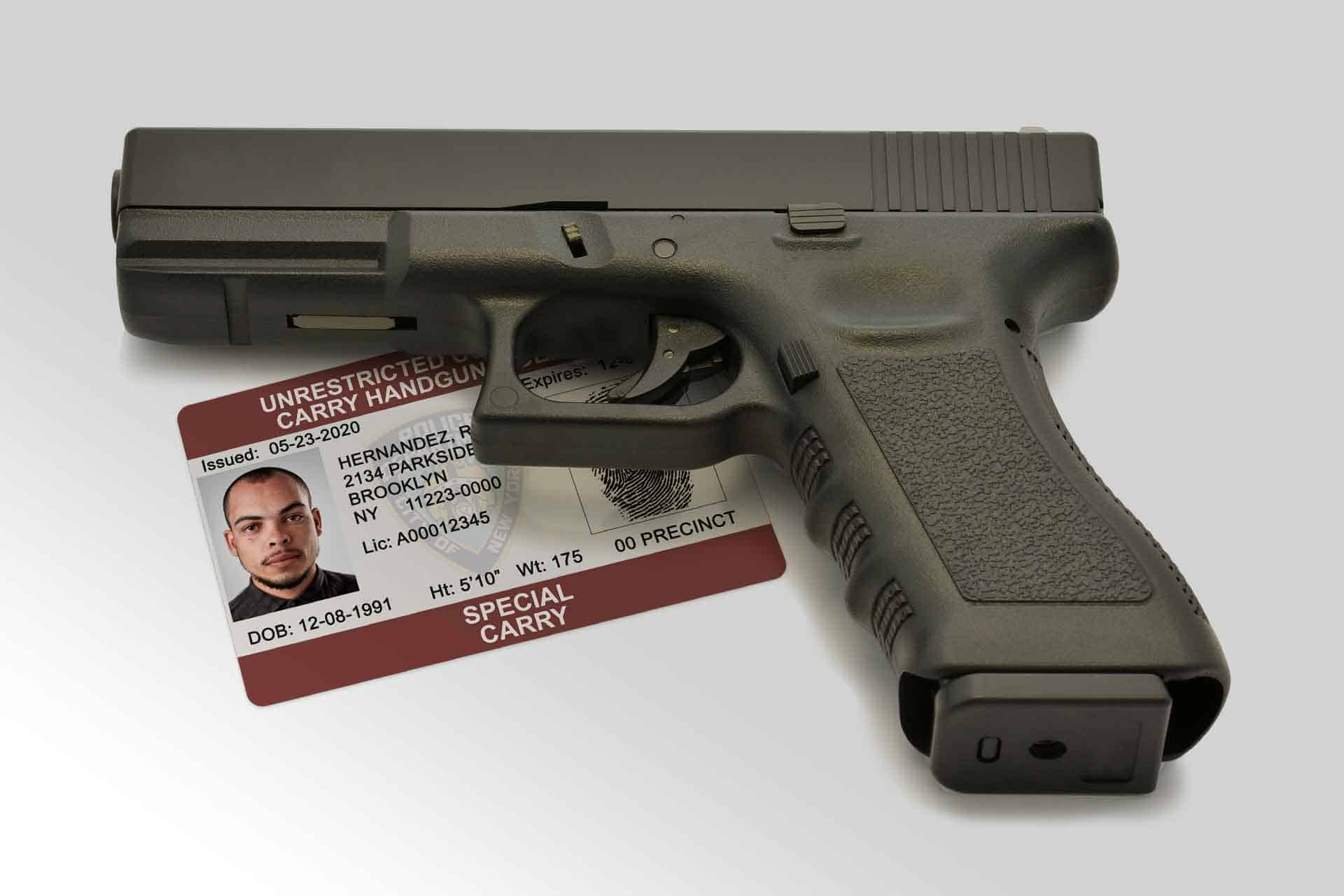 New York carry handgun permit and a hand gun