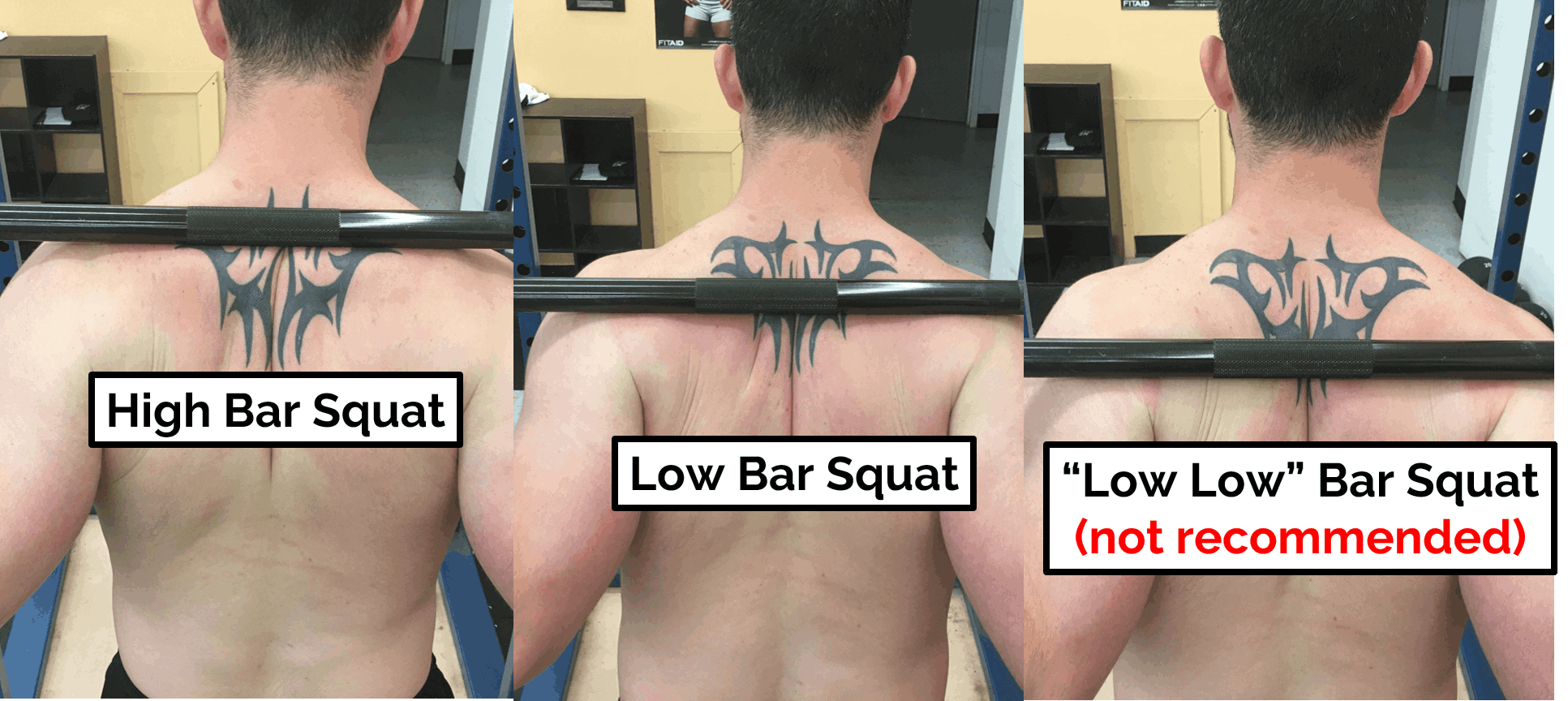 low low bar squat elbow pain during squats