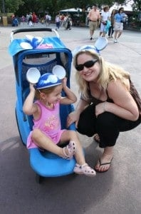 disney with toddlers, walt disney world with a toddler, Mouse Ears, walt disney world, stroller