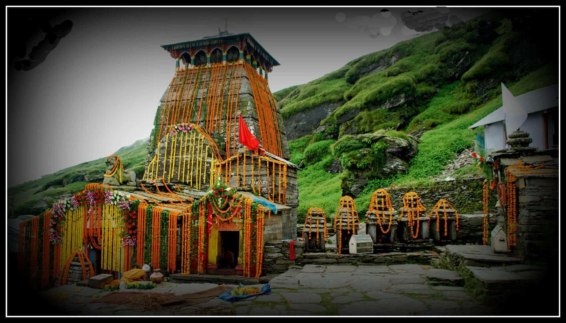 Tungnath Temple in Chopta in monsoon