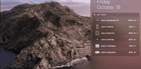 Batteries Widget cho Mac - Cách xem nhanh dung lượng pin các thiết bị nhà Táo