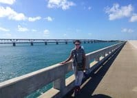 tamara scharf on bridge Walking from Key Largo to Key West:  Six days solo on the Overseas Highway