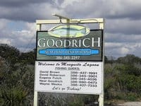 oakhill goodrichs sign Oak Hill: Outpost on Mosquito Lagoon for history, classic seafood shack
