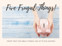 Five Frugal Things we did this week {6th November 2020}....