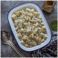 potato salad with a big spoon