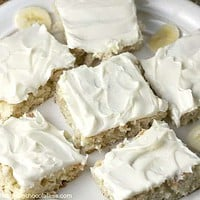 Heavenly Frosted Banana Bars