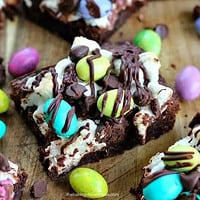 M&M Easter Egg Marshmallow Fudge Brownies