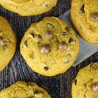 Super Soft Jumbo Pumpkin Chocolate Chip Cookies