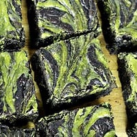 Matcha Cheesecake Swirled Dark Chocolate Brownies