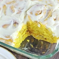 Cinnamon Pumpkin Rolls with Cream Cheese Frosting