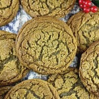 Soft and Chewy Ginger Spiced Molasses Cookies