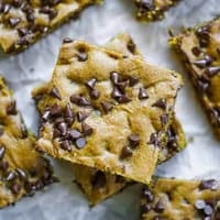 Sheet Pan Pumpkin Chocolate Chip Cookie Bars