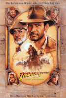 Sean connery and harrison ford search for the grail inthe last crusade.