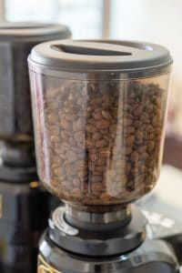 Electric coffee grinder to grind beans