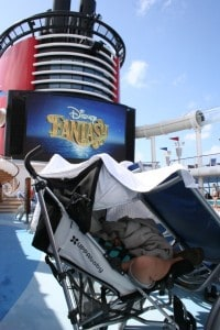 uppababy g-luxe, Disney Fantasy, Disney Cruise, G-Luxe, umbrella stroller, cruise with baby, stroller for a cruise, napping G-luxe