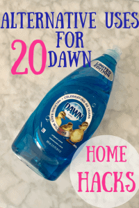 home hacks for dawn dish soap graphic