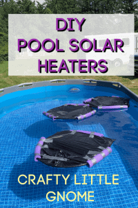 diy solar heaters floating in a pool