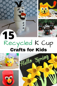 15 recycled K cup crafts for kids.