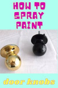 spray paint door knobs before and after