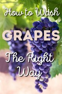 how to wash grapes the right way