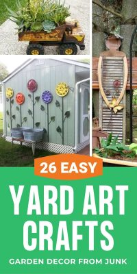 Yard Art Home Decor Garden Ideas made with Junk