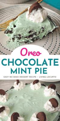 Oreo Chocolate Mint Pie Dessert Recipe