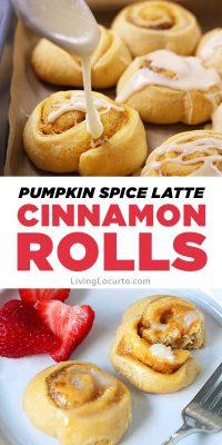 Pumpkin Spice Latte Cinnamon Rolls