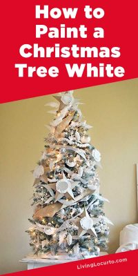 How to Paint a Christmas Tree White - Easy Home Decor Craft