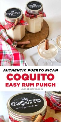 How to make Coquito, a delicious coconut and rum punch originated in Puerto Rico. This authentic Puerto Rican drink recipe is the best dessert cocktail