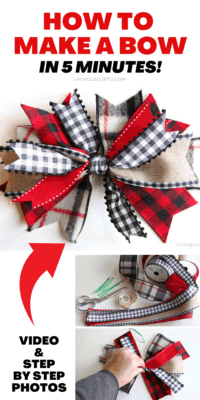 How to Make a Bow in 5 minutes - Home Decor Craft
