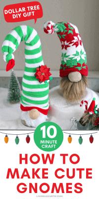 DIY Christmas Gnomes Dollar Tree Craft