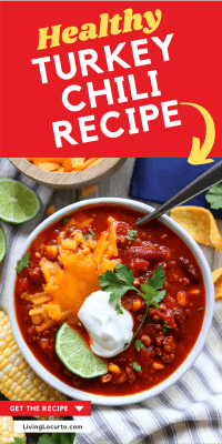 Bowl of Healthy Turkey Chili Recipe with Corn