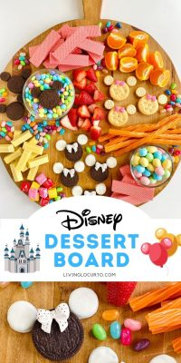 Disney Themed Dessert Board with Minnie Mouse Cookies OREO Cookies