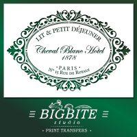Shabby Chic Stencil: Cheval Blanc Hotel