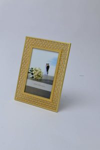 PF1092 - Golden Plated Luxury Picture Frame with Brilliant Crystals
