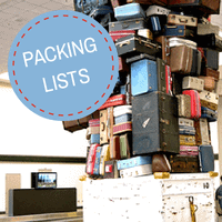 baby travel packing lists