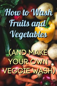 how to wash fruit and veggies