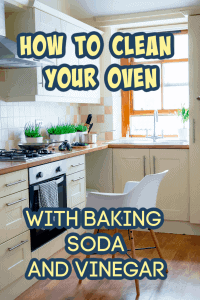 clean oven baking soda vinegar