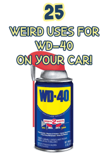 uses for wd 40 on cars