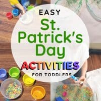 Lucky Clover and Rainbow Sorting St. Patrick's Day Crafts for Toddlers and Preschoolers
