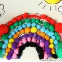 Pom Pom Rainbow Collage – Danya Banya