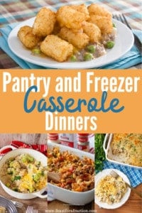 Casserole Dinners Using Pantry Ingredients