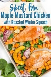 Sheet Pan Chicken with Roasted Winter Squash