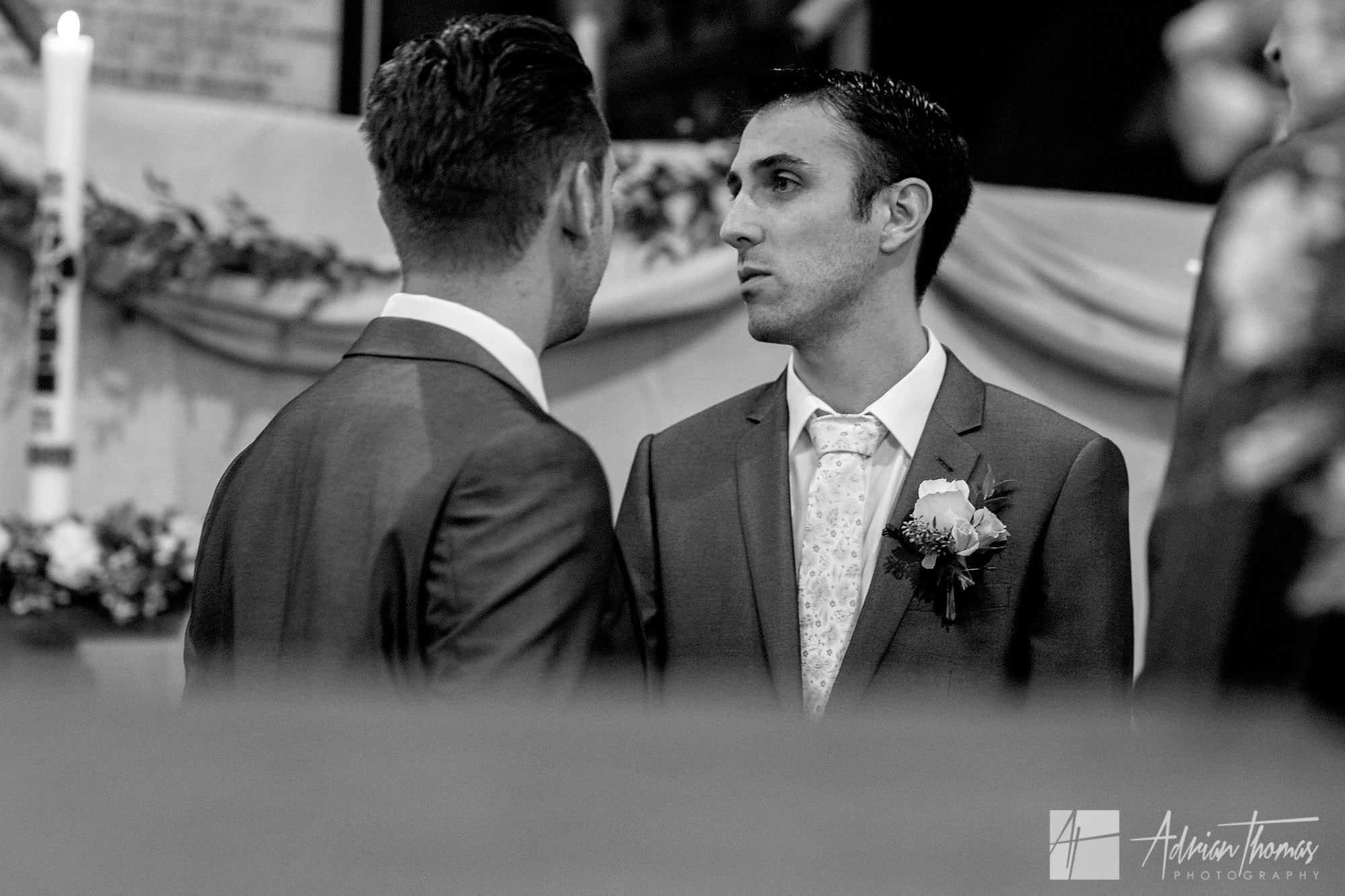 Nervous Groom looking for Bride.