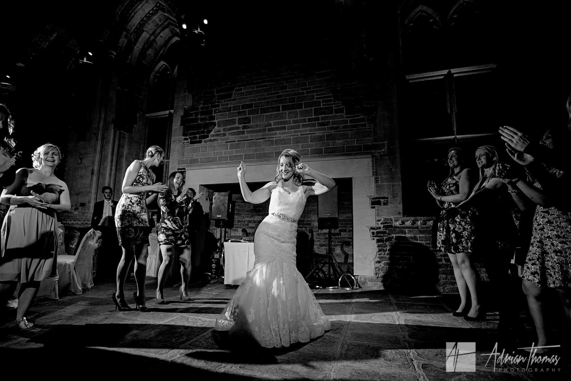 Bride Dancing at her wedding.