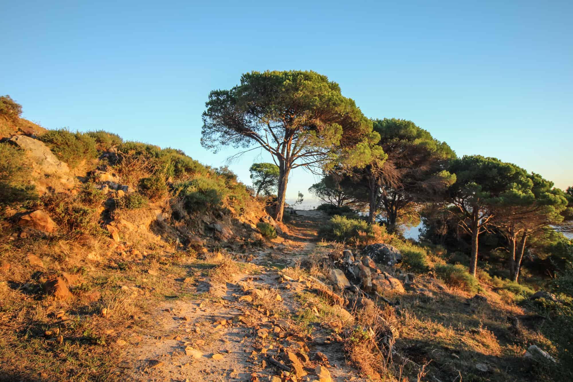 Aufstieg Wanderweg La Pena