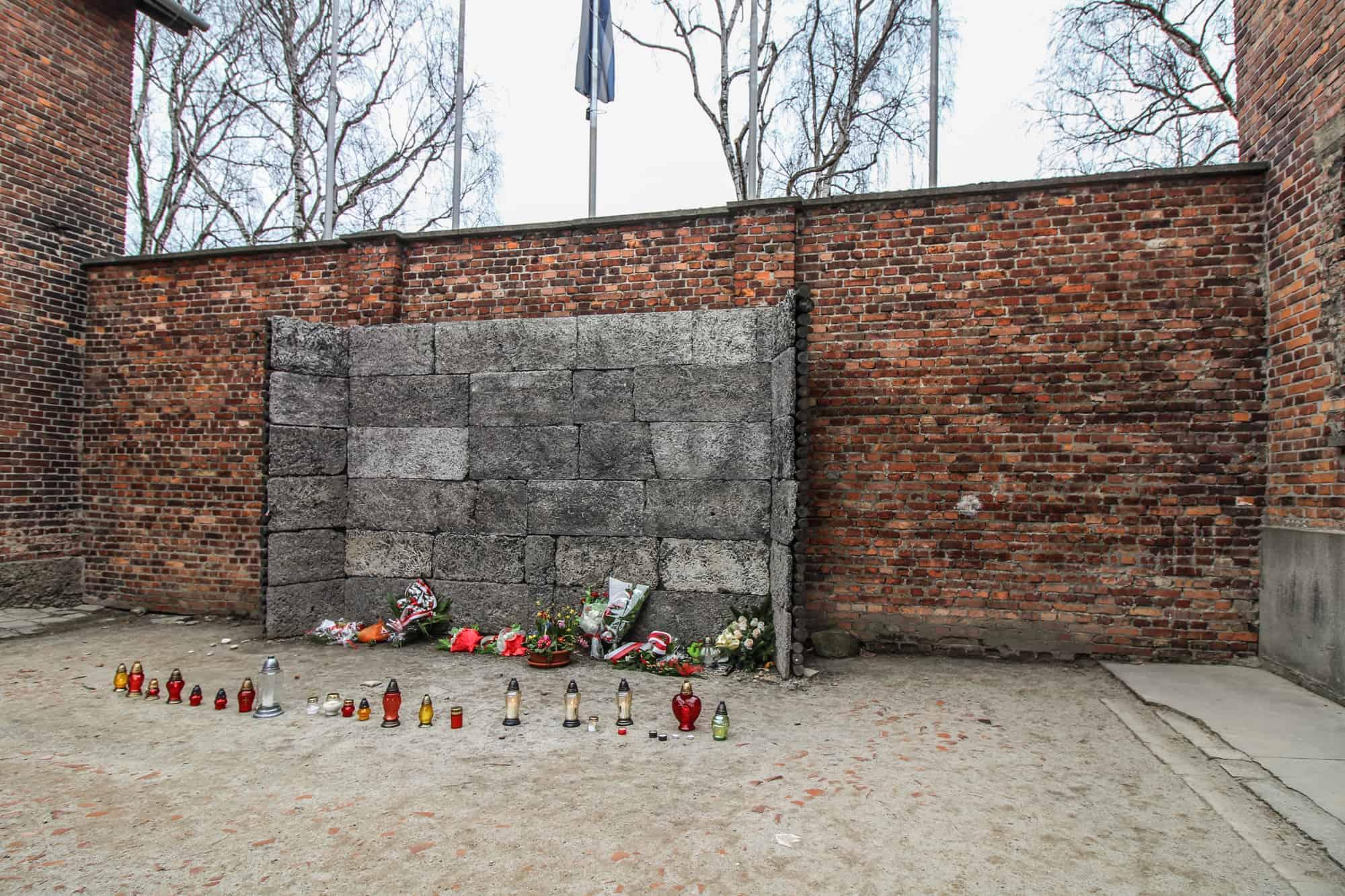 Ein Erschießungsstand in Auschwitz 1