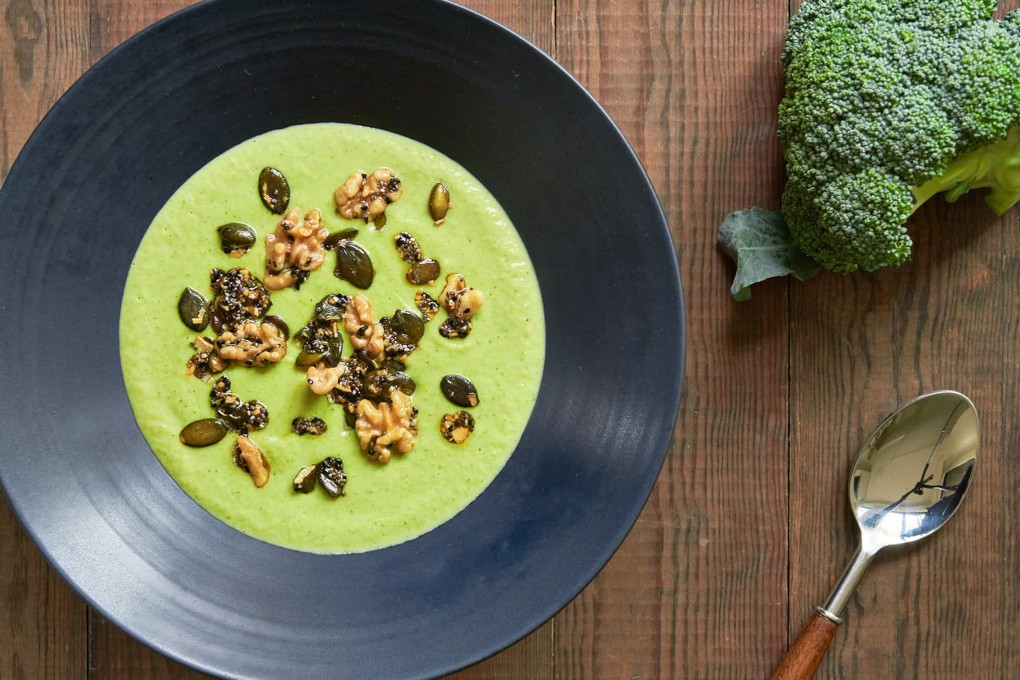 This Broccoli Cheese Soup is so flavorful and creamy, no one will believe it's plant-based.