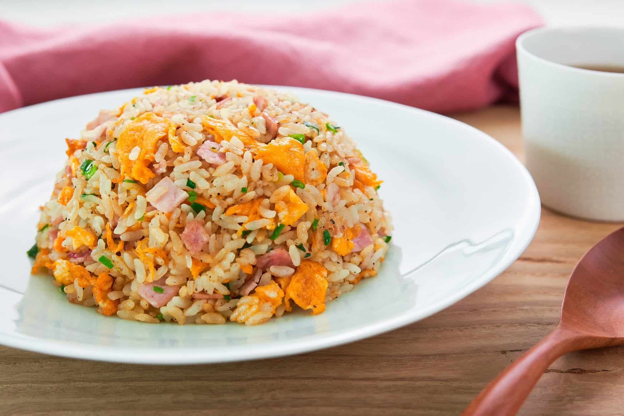 Easy Japanese fried rice that comes togehter from a handful of simple ingredients in a matter of minutes.